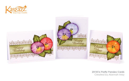 2H1816 Pretty Pansies Cards