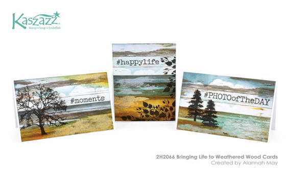 2H2066 Bringing Life to Weathered Wood Cards