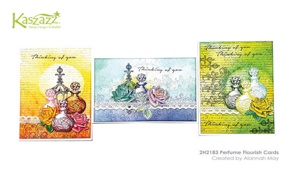 2H2183 Perfume Flourish Cards