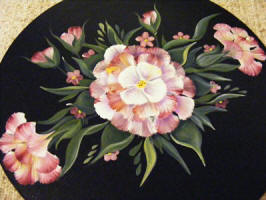 image of Alannah May'd pink folkart flowers